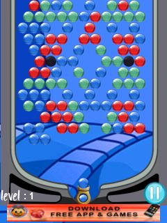 Jeu mobile Accumulation des boules - captures d'écran. Gameplay Bubble clusterz.