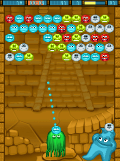 Download free game for mobile phone: Monsters bubbles - download mobile games for free.