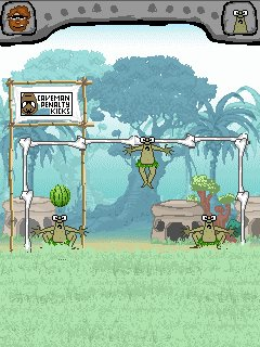 Mobile game Caveman penalty kicks - screenshots. Gameplay Caveman penalty kicks.