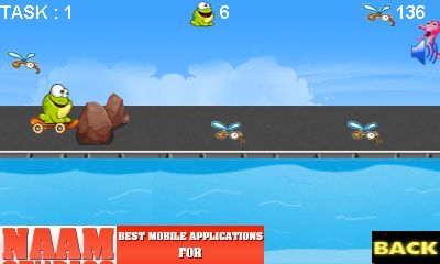 Jeu mobile Grenouille qui prend son galop - captures d'écran. Gameplay Frog dash.