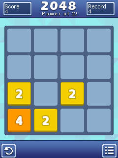 Mobile game 2048: Power of 2 - screenshots. Gameplay 2048: Power of 2.