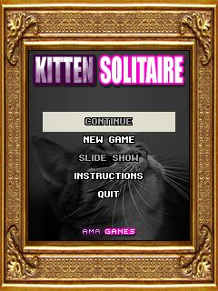 Download free game for mobile phone: Kitten solitaire - download mobile games for free.