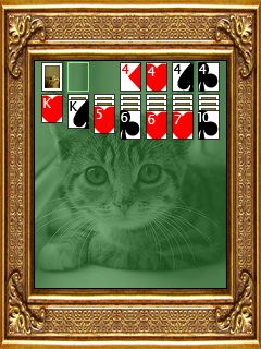 Mobile game Kitten solitaire - screenshots. Gameplay Kitten solitaire.
