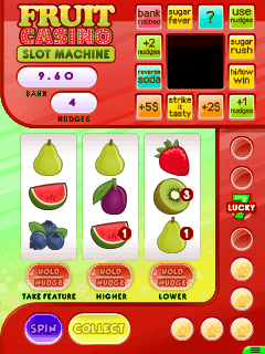 Mobil-Spiel Frucht Casino: Einarmiger Bandit - Screenshots. Spielszene Fruit casino: Slot machine.