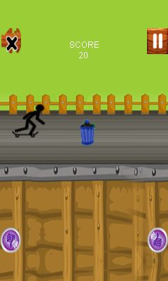 Mobil-Spiel Stickman Stunts - Screenshots. Spielszene Stickman stunts.