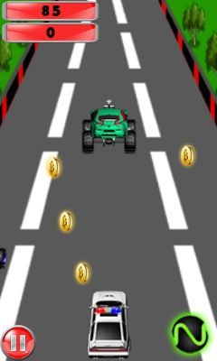 Jeu mobile Voiture de police: Course de vitesse  - captures d'écran. Gameplay Police car: Speed race.