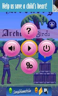 Download free mobile game: Archery birds - download free games for mobile phone.