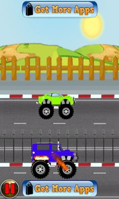 Скриншот java игры Monster truck: Shift race. Игровой процесс.