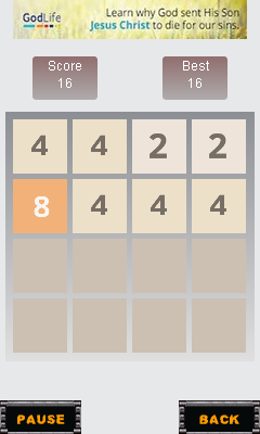 Mobile game 2048: Number puzzle - screenshots. Gameplay 2048: Number puzzle.