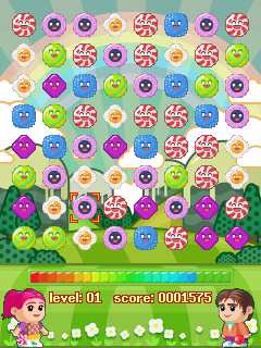 Скриншот java игры 3 in 1: Candy games. Игровой процесс.
