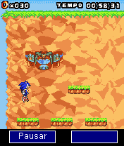 Mobile game Sonic jump v0.10 - screenshots. Gameplay Sonic jump v0.10.