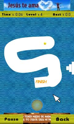 Mobil-Spiel Finger Drag - Screenshots. Spielszene Finger drag.