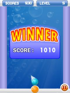 Mobil-Spiel Bubble Shooter - Screenshots. Spielszene Bubble shooter.