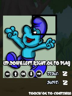 Download free game for mobile phone: Cool smurf puzzle - download mobile games for free.