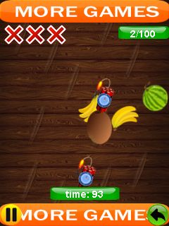 Jeu mobile Couperet de fruits: Ninja - captures d'écran. Gameplay Fruit cutter: Ninja special.