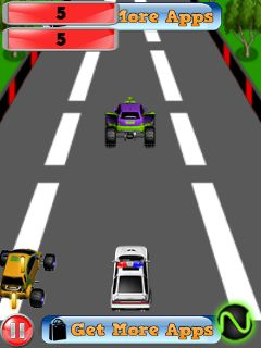 Police car: Speed race 2手机游戏- 截图。Police car: Speed race 2游戏。