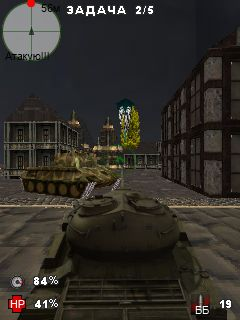 Скріншот java гри World of tanks mobile. Ігровий процес.
