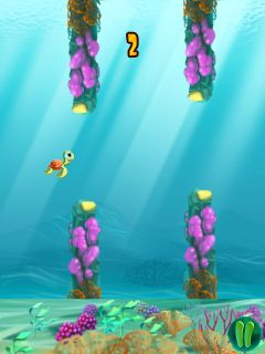 Mobile game Flappy turtle - screenshots. Gameplay Flappy turtle.