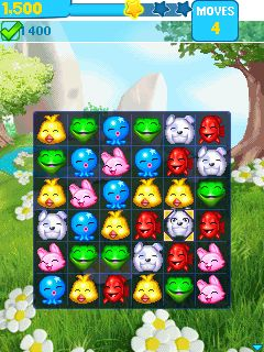 Jeu mobile Puzzle des pupilles: Divertissement tapant  - captures d'écran. Gameplay Puzzle pets: Popping fun.