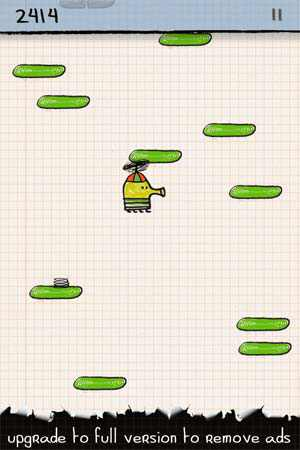 doodle jump version telephone mobile