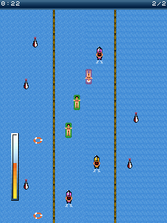 Jeu mobile Courses de plage pour le déshabillage - captures d'écran. Gameplay Aqua racing sех.