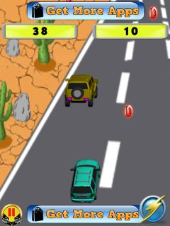 Mobil-Spiel Motosport Unleashed - Screenshots. Spielszene Motosport unleashed.