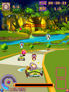 Jeu mobile Karting magique  - captures d'écran. Gameplay Magic karting.