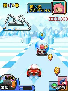 Download free game for mobile phone: Crazy fruit kart - download mobile games for free.