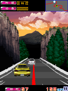 Jeu mobile Initial D: Dévoilement du sort  - captures d'écran. Gameplay Initial D: Destiny showdown.