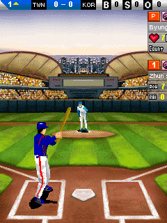 Скриншот java игры World league baseball. Игровой процесс.