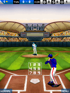 Mobil-Spiel Weltliga Baseball - Screenshots. Spielszene World league baseball.