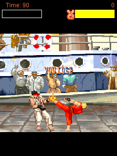Mobil-Spiel Street Fighter II: Rapider Kampf - Screenshots. Spielszene Street fighter II: Rapid battle.