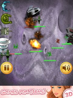 Download free game for mobile phone: Zombies vs aliens: RTS - download mobile games for free.
