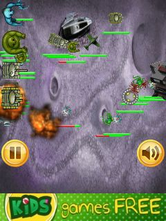 Jeu mobile Zombi contre étrangers: Stratégie - captures d'écran. Gameplay Zombies vs aliens: RTS.