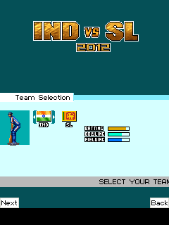 Download free game for mobile phone: India vs Sri Lanka 2012 - download mobile games for free.