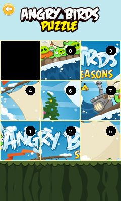 Jeu mobile Angry Bird puzzle  - captures d'écran. Gameplay Angry Birds puzzle.