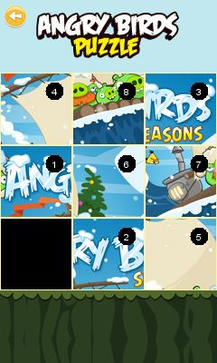 Mobil-Spiel Angry Birds Puzzle - Screenshots. Spielszene Angry Birds puzzle.