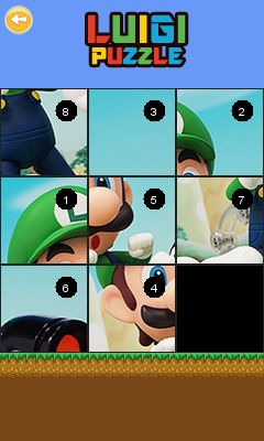 Mobile game Luigi puzzle - screenshots. Gameplay Luigi puzzle.