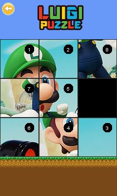 Download free game for mobile phone: Luigi puzzle - download mobile games for free.