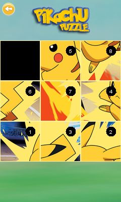 Mobile game Pikachu puzzle - screenshots. Gameplay Pikachu puzzle.