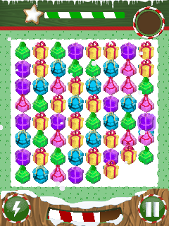 Mobile game Christmas jewels - screenshots. Gameplay Christmas jewels.