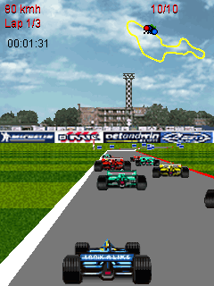 Mobil-Spiel David Coulthard GP - Screenshots. Spielszene David Coulthard GP.
