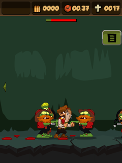 Jeu mobile Poursuite de zombi 3  - captures d'écran. Gameplay Zombie chase 3.