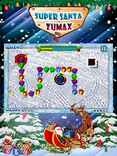 Download free mobile game: Super Santa Zumax - download free games for mobile phone.