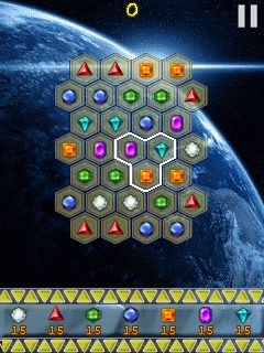 Download free game for mobile phone: Space jewels - download mobile games for free.