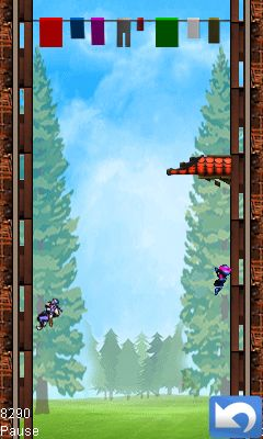 Mobile game Ninja heights - screenshots. Gameplay Ninja heights.