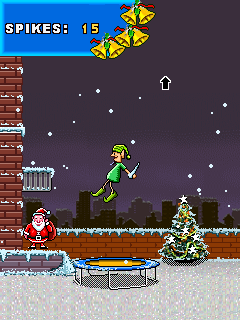Download free game for mobile phone: Santa rooftop climber - download mobile games for free.