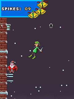 Mobile game Santa rooftop climber - screenshots. Gameplay Santa rooftop climber.