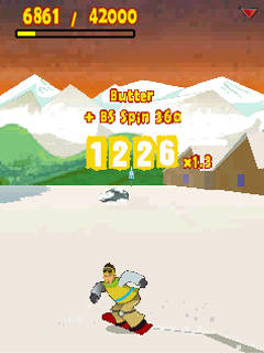 Mobile game Radikal snowboard - screenshots. Gameplay Radikal snowboard.