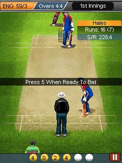 Mobil-Spiel Ultimate Cricket World Cup 2015 - Screenshots. Spielszene Ultimate Cricket World Cup 2015.